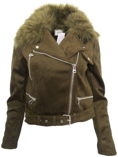 Krátký kabátek s kožíškem Pimkie