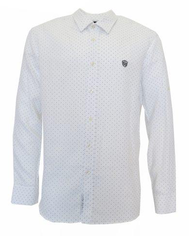 Galvanni košile bílá s modrým puntíkem