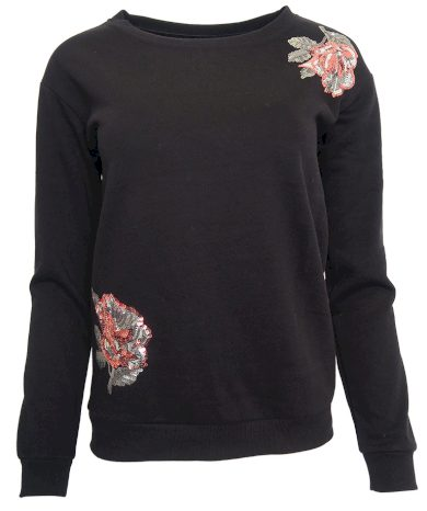Mikina s flitrovými květy Vero Moda
