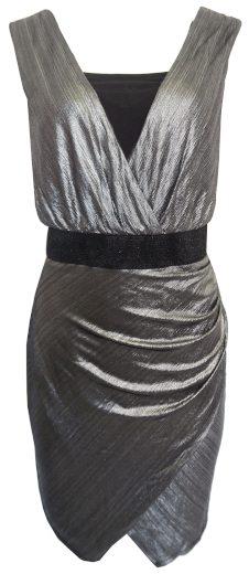 Stříbrnočerné šaty Patricie Bréal