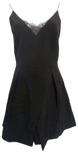 Černé šaty na špagetová ramínka Morgan