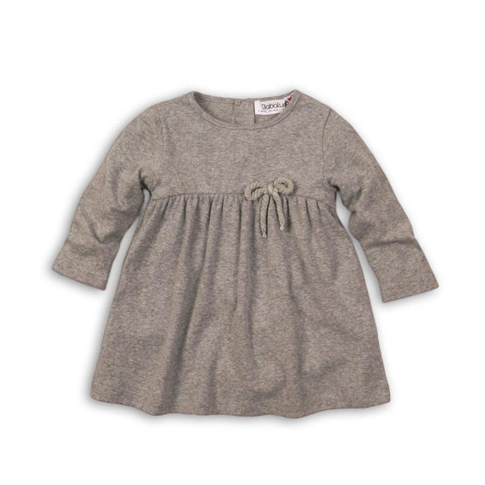 Minoti Šaty dívčí s mašlí, Minoti, BIRDCAGE 5, šedá