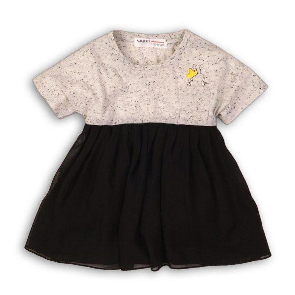 Minoti Šaty dívčí s dlouhým rukávem, Minoti, TWIST 12, černá