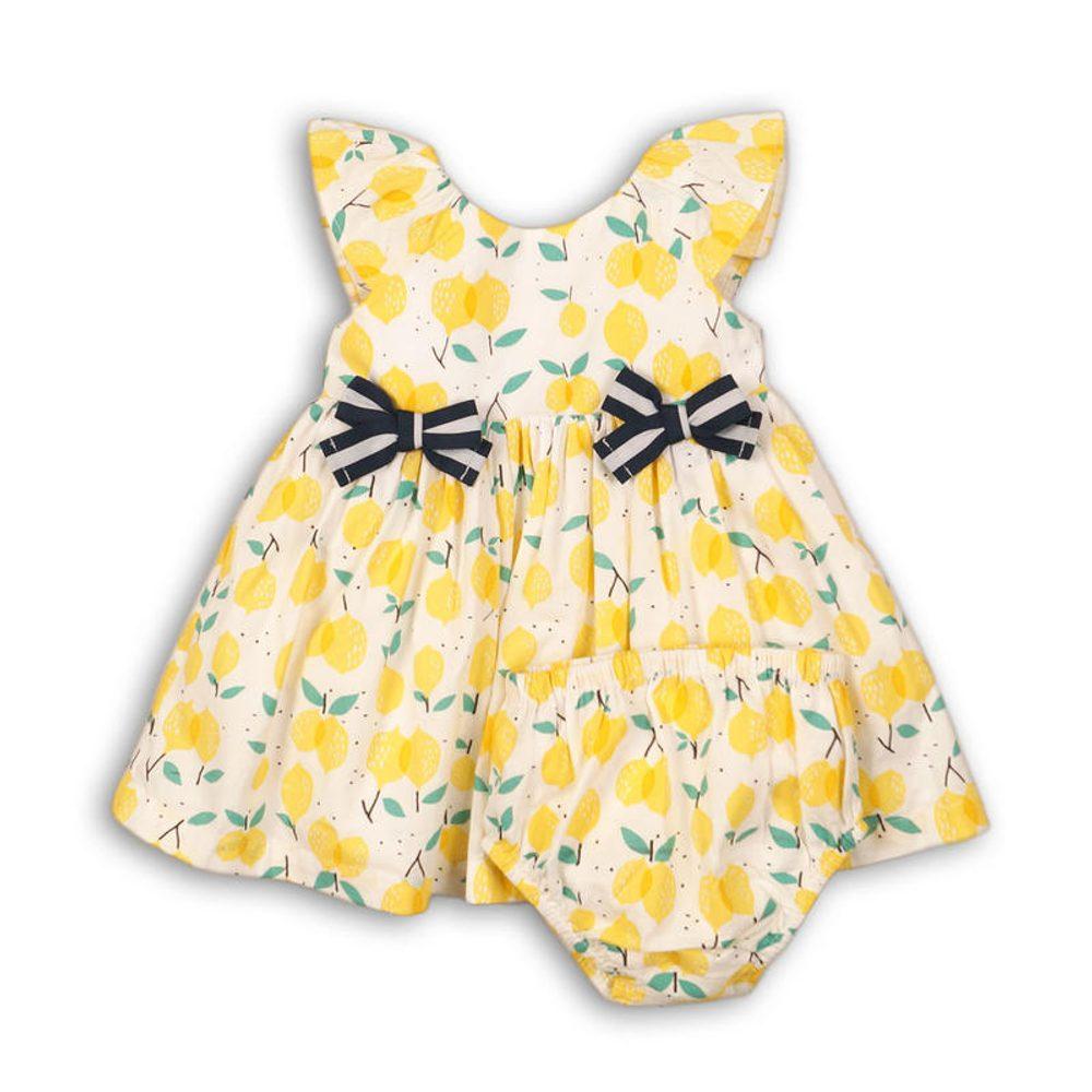 Minoti Šaty dívčí s kalhotkami, Minoti, lemon 2, žlutá