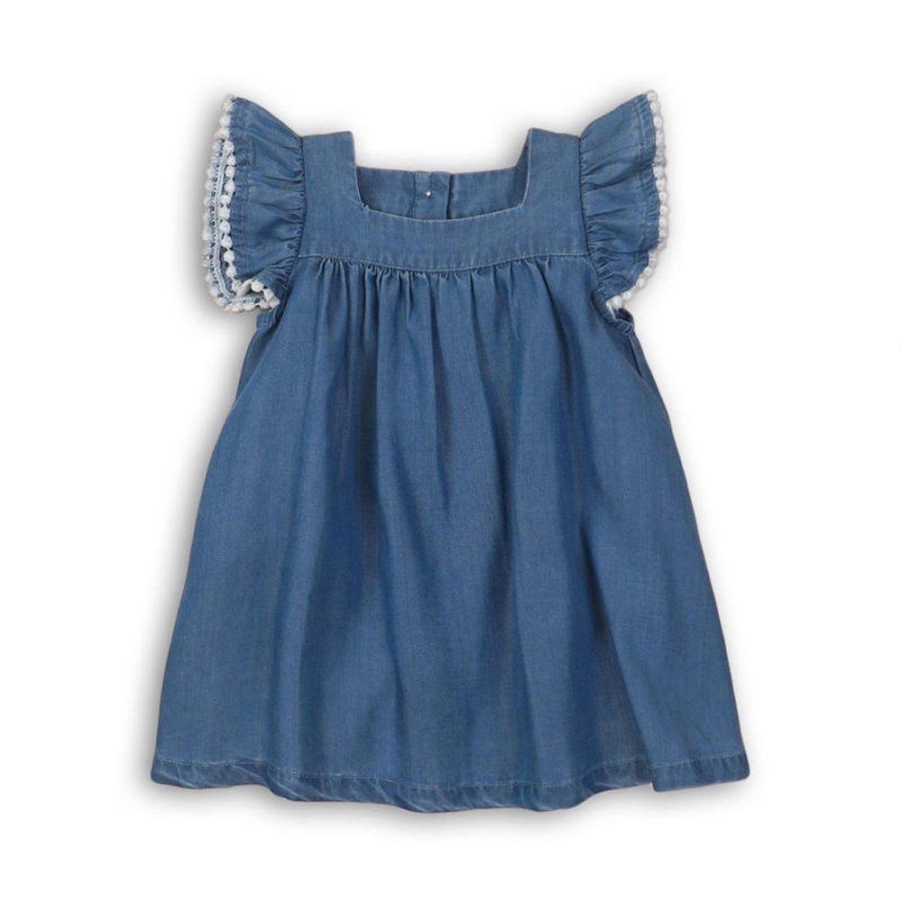 Minoti Šaty dívčí, Minoti, lemon 3, modrá