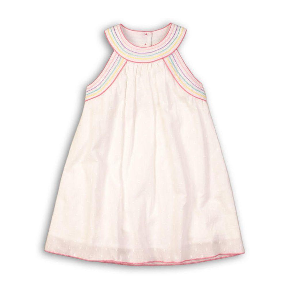 Minoti Šaty dívčí bavlněné, Minoti, Pool 1, bílá