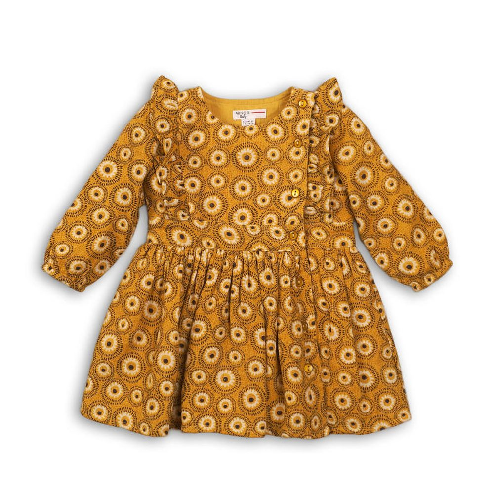 Minoti Šaty dívčí viskózové, Minoti, OWL 6, žlutá