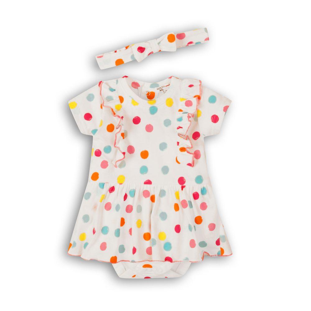 Minoti Šaty kojenecké s čelenkou, Minoti, Lullaby 5, bílá