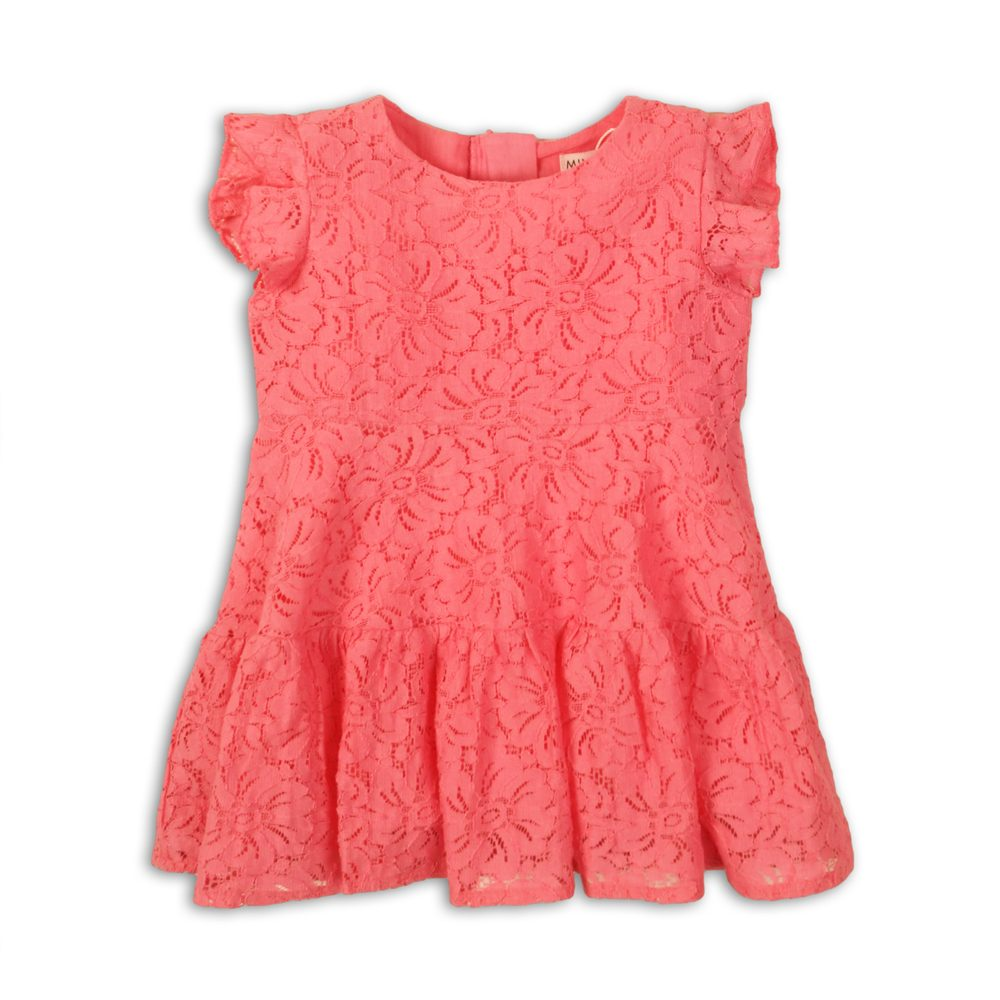 Minoti Šaty dívčí krajkové, Minoti, Fruits 5, růžová