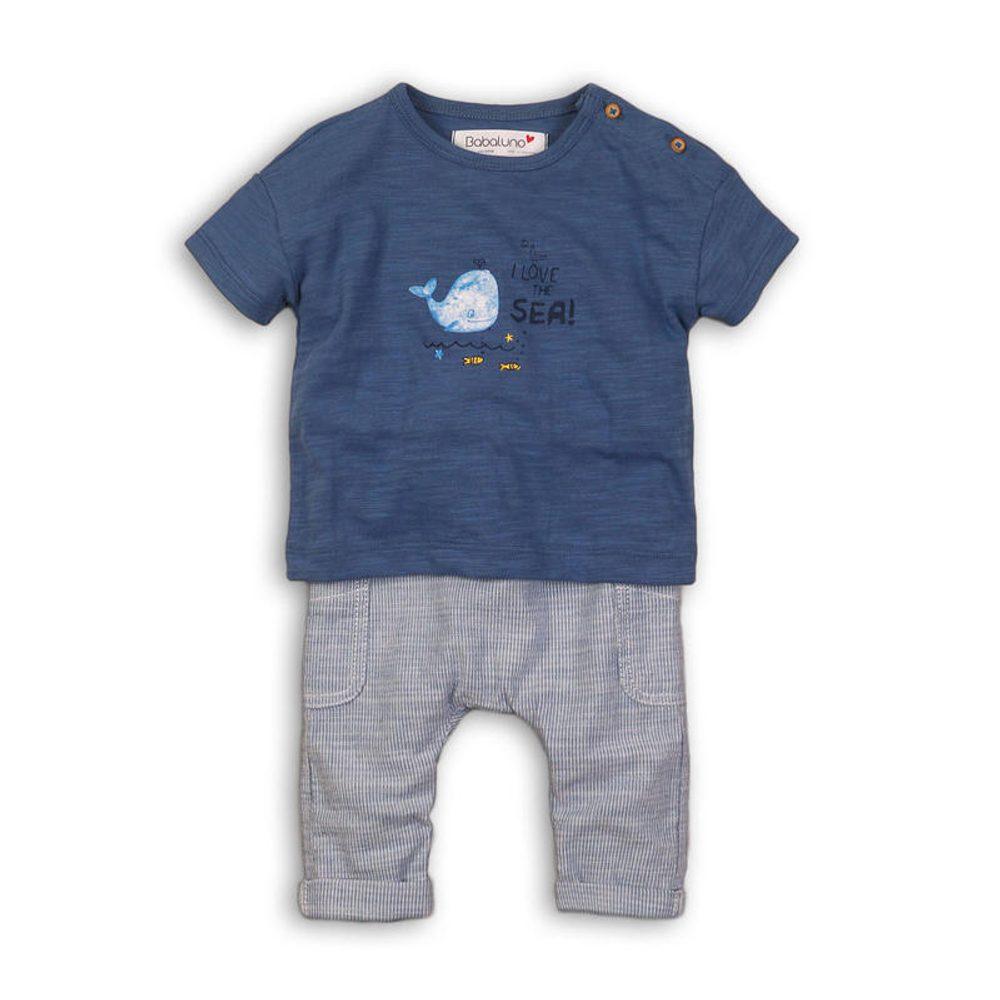 Minoti Kojenecký set: tričko a kalhoty, Minoti, Wave 3, modrá