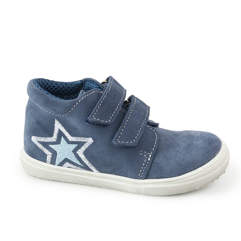 JONAP chlapecká celoroční barefoot obuv J022/S/V/Hvězda modrá, jonap, modrá