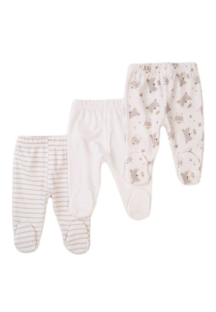 Minoti Kalhoty kojenecké 3pack, Minoti, Little 6, béžová