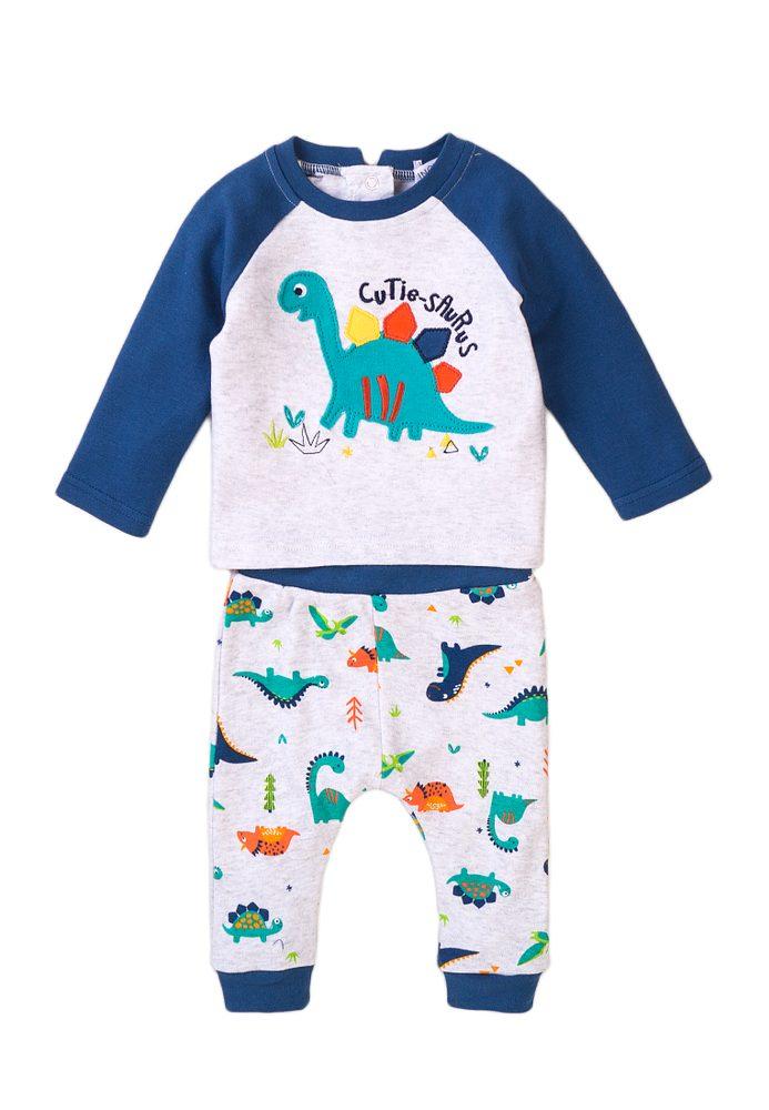 Minoti Kojenecký set - tričko a kalhoty, Minoti, Jurassic 4, modrá