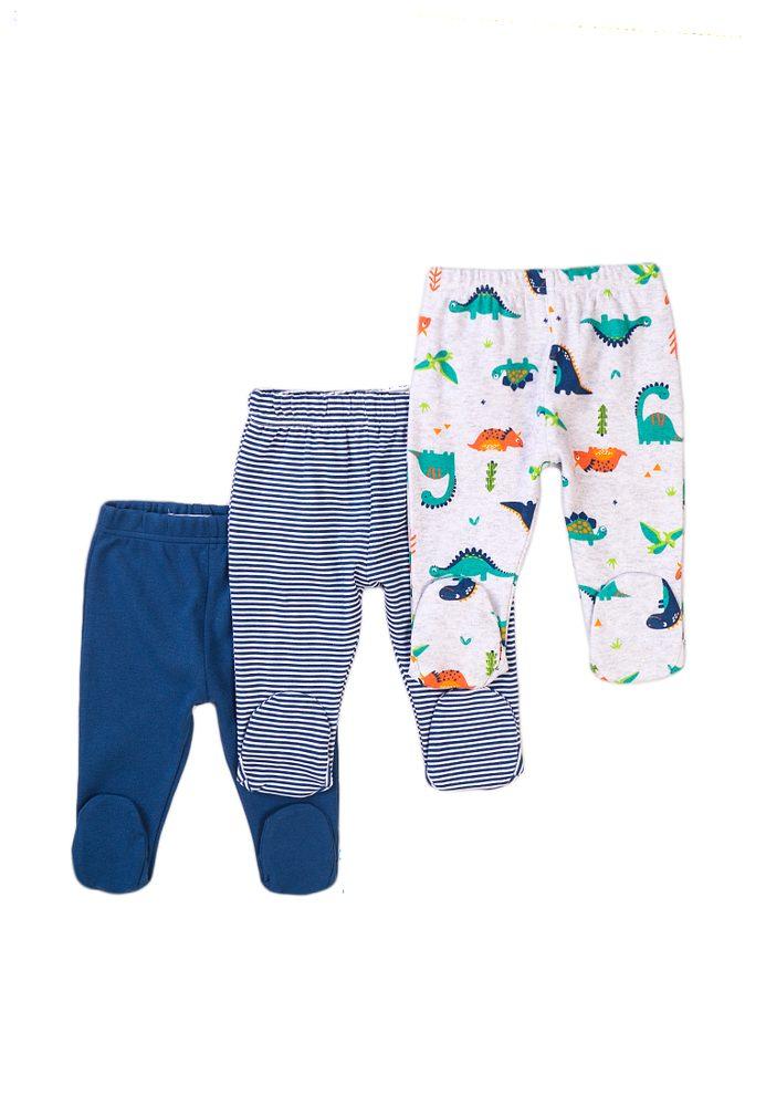 Minoti Kalhoty kojenecké 3pack, Minoti, Jurassic 14, modrá