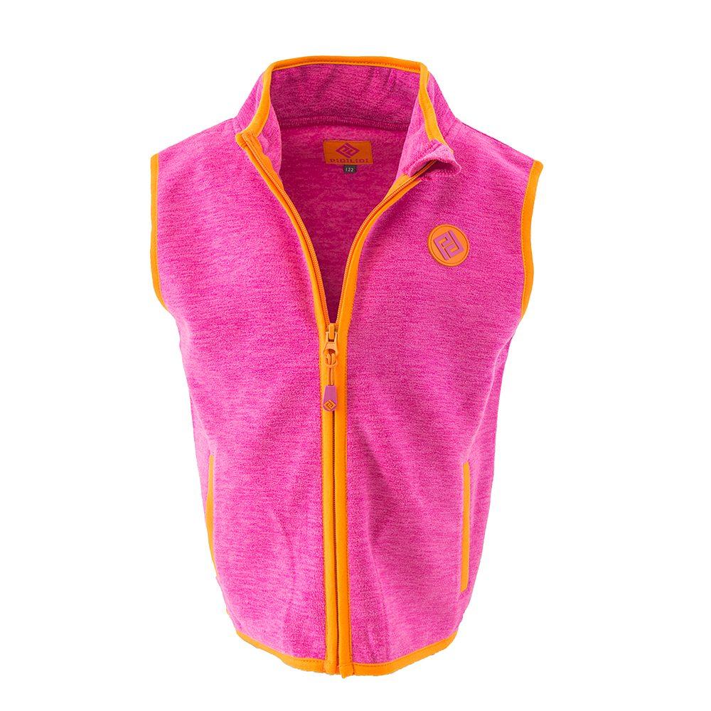 Pidilidi dívčí vesta propínací fleezová, Pidilidi, PD1118-03, růžová