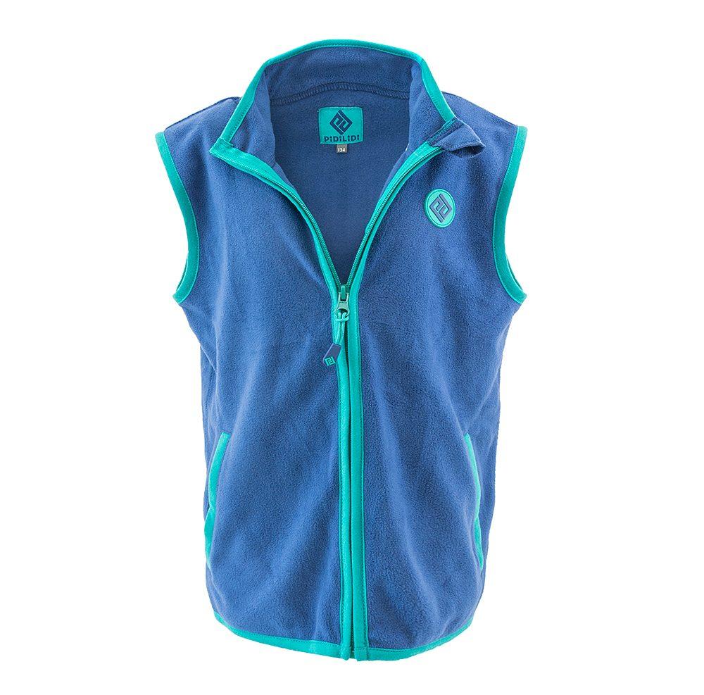 Pidilidi chlapecká vesta propínací fleezová, Pidilidi, PD1120-04, modrá