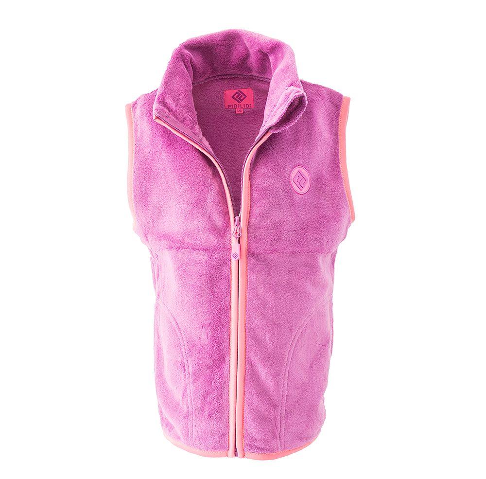 Pidilidi dívčí vesta propínací fleezová, Pidilidi, PD1120-03, růžová