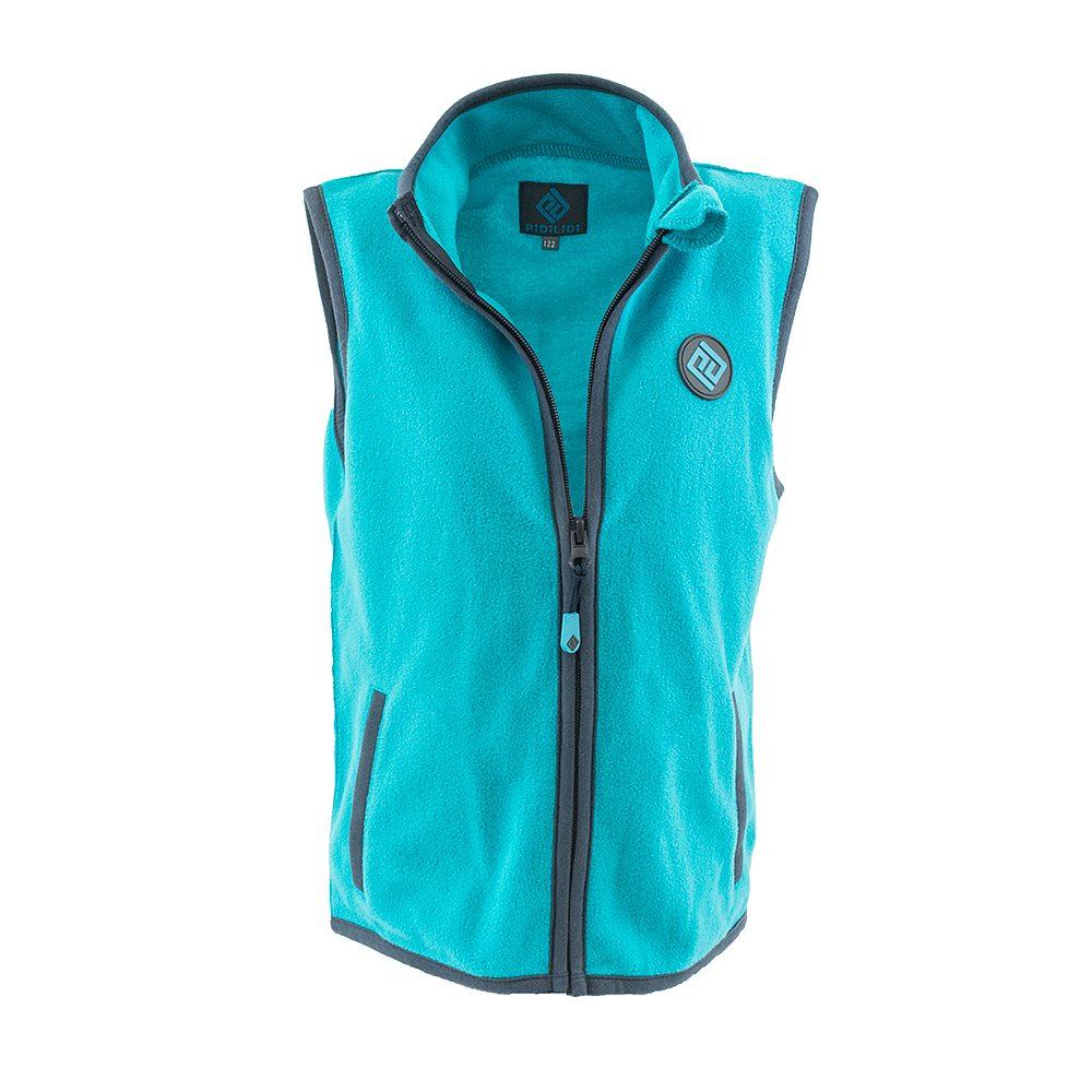 Pidilidi dětská vesta propínací fleezová, Pidilidi, PD1120-15, tyrkysová