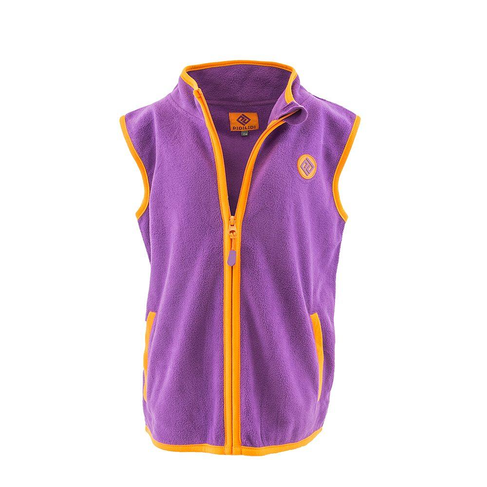 Pidilidi dívčí vesta propínací fleezová, Pidilidi, PD1120-06, fialová