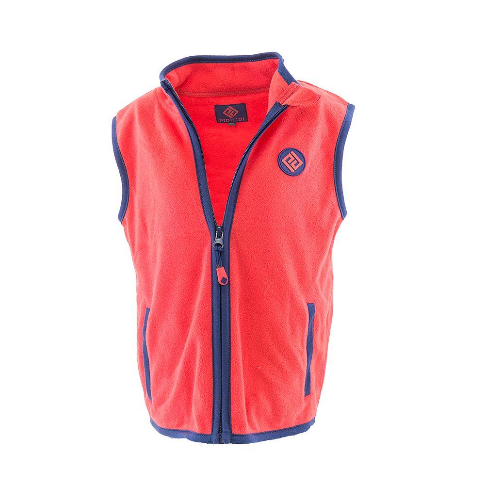 Pidilidi dívčí vesta propínací fleezová, Pidilidi, PD1120-08, červená