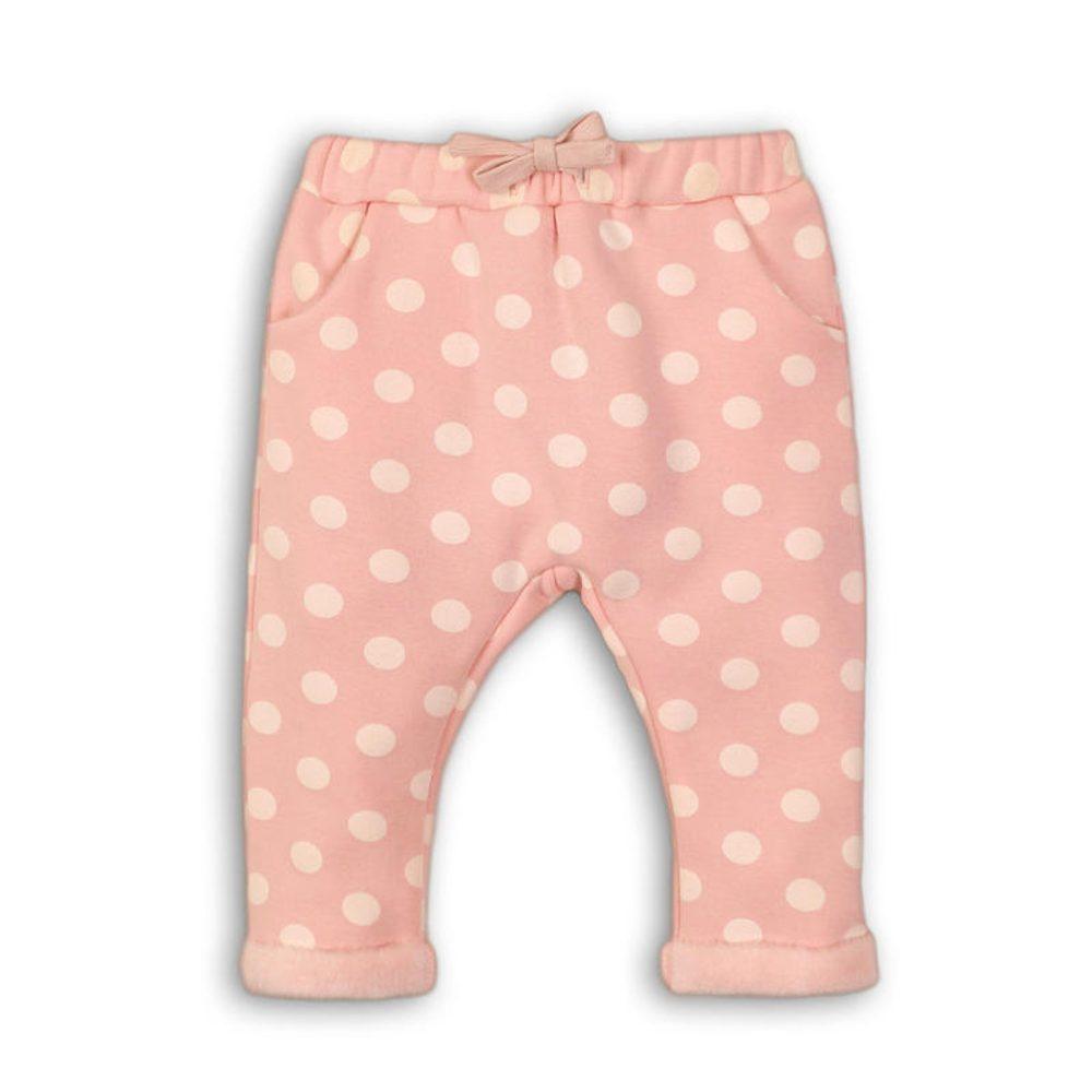 Minoti Kalhoty dívčí fleezové vyteplené, Minoti, DEER 4, růžová
