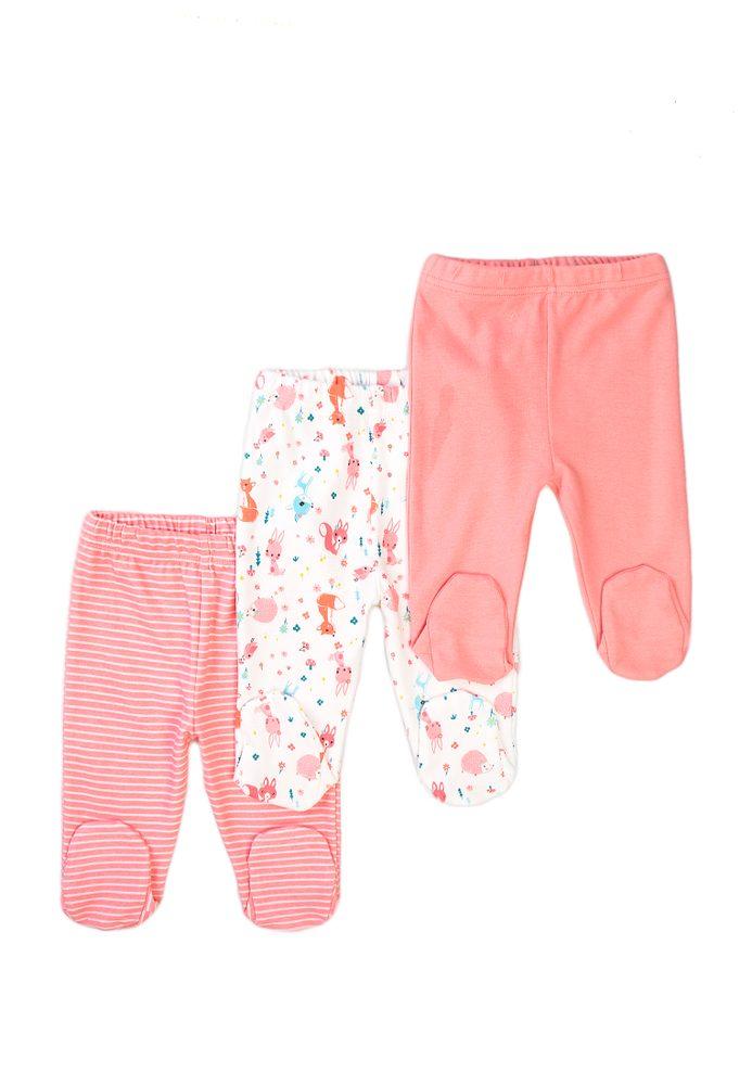 Minoti Kalhoty kojenecké 3pack, Minoti, Robbin 14, růžová