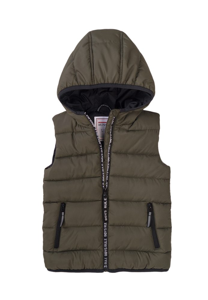 Minoti Vesta chlapecká Puffa s kapucí, Minoti, 7BGILET 10, khaki