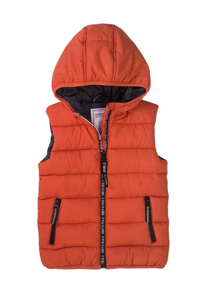 Minoti Vesta chlapecká Puffa s kapucí, Minoti, 7BGILET 11, oranžová