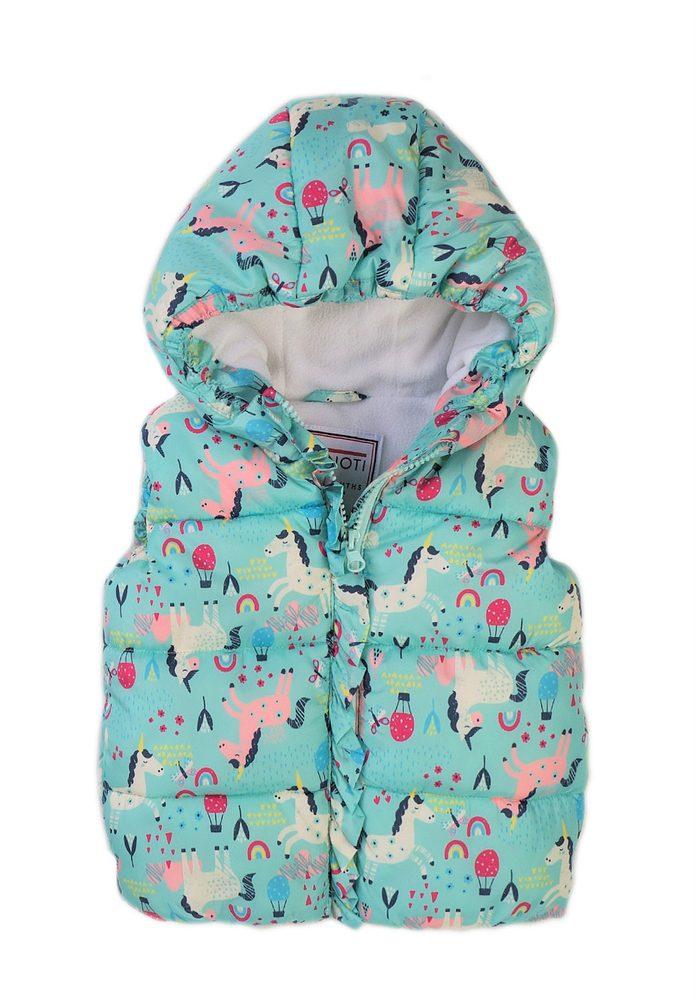 Minoti Vesta dívčí Puffa s kapucí, Minoti, 8GGILET 1, modrá