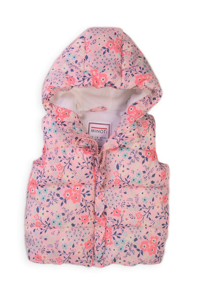 Minoti Vesta dívčí Puffa s kapucí, Minoti, 8GGILET 6, růžová