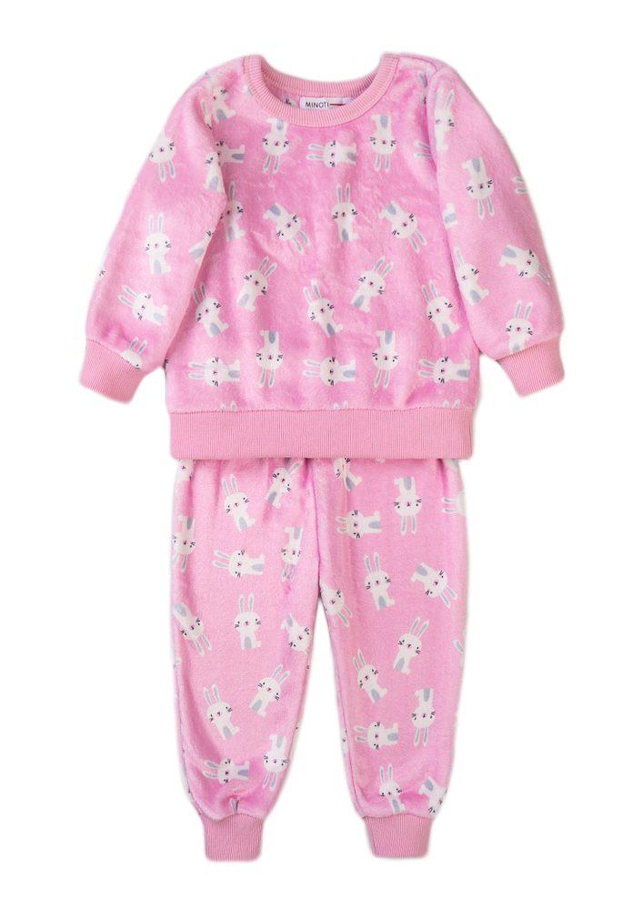 Minoti Pyžamo dívčí fleecové, Minoti, TG PYJ 22, růžová
