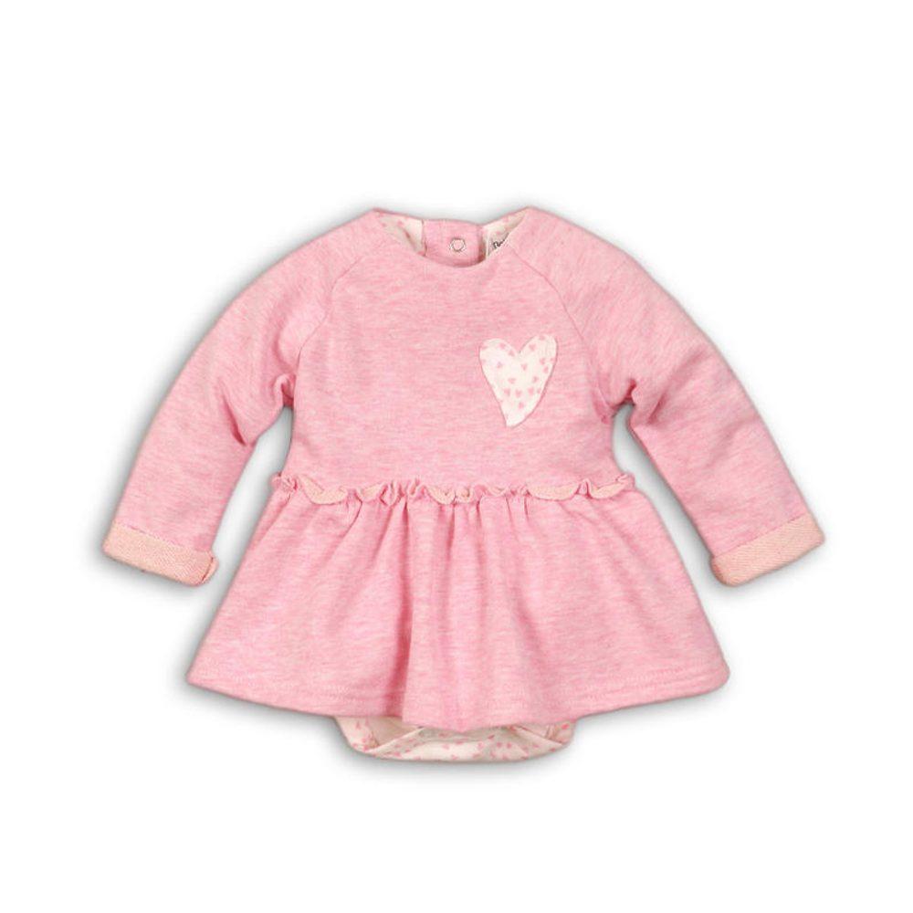 Minoti Šaty kojenecké se všitým body, Minoti, EYELASH 5, růžová