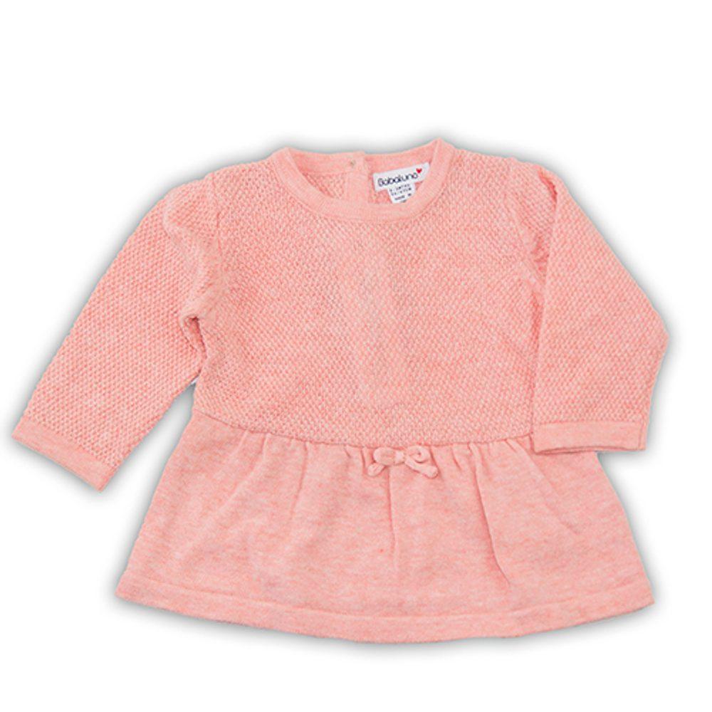 Minoti Šaty kojenecké úpletové, Minoti, BUNNY 2, růžová