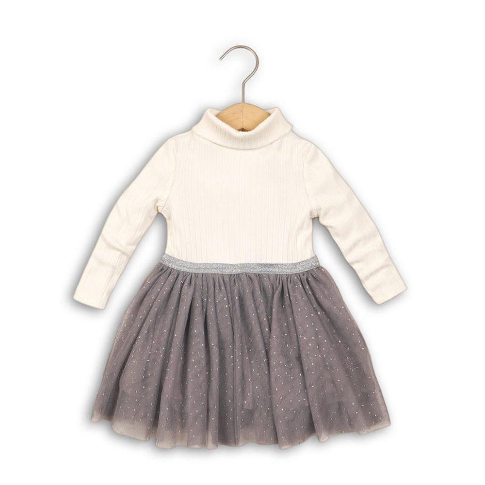 Minoti Šaty dívčí, rolák a řesená sukně, Minoti, DOLL 3, bílá