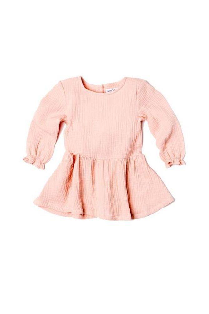 Minoti Šaty dívčí s řasenou sukní, Minoti, AUTUMN 11, růžová