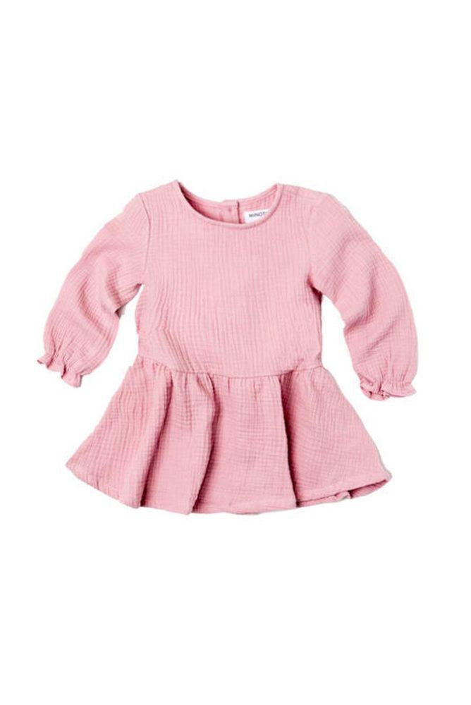 Minoti Šaty dívčí s řasenou sukní, Minoti, AUTUMN 11, fuchsia