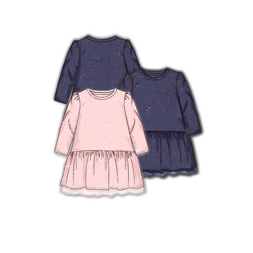 Minoti Šaty dívčí s elastenem, Minoti, ODYSSEY 4, růžová