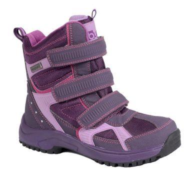 Bugga obuv zimní 3 pásky, Bugga, B085, fialová