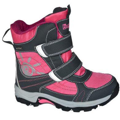 Bugga boty zimní 2 pásky, nepromokavá membrána, Bugga, B00128-03, růžová