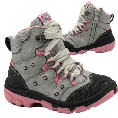 Bugga boty dětské zimní, Bugga, B00142-09, šedá