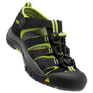 Keen Dětské sandály NEWPORT H2 JR, black/lime green, Keen, 1009965, černá