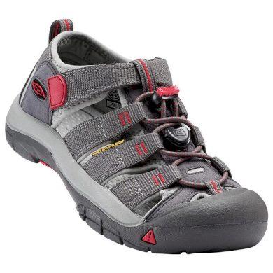 Keen Dětské sandály NEWPORT H2 JR, magnet/tango red, Keen, 1016282, šedá