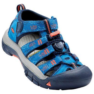 Keen Dětské sandály NEWPORT H2 K, imperial blue/sharks, Keen, 1016592, modrá
