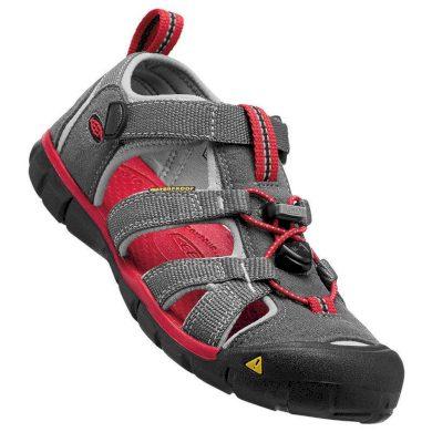 Keen Dětské sandály SEACAMP II CNX, magnet/racing red, Keen, 1014123, šedá