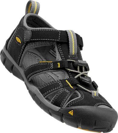 Keen Dětské sandály SEACAMP II CNX, black/yellow, Keen, 1012064, černá