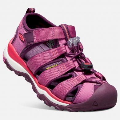 Keen Dětské sandály NEWPORT NEO H2 JR, red violet/grape wine, Keen, 1018427, růžová