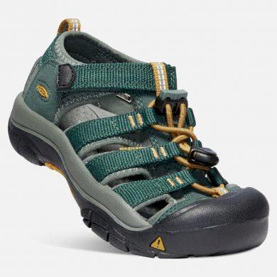 Keen Dětské sandály NEWPORT H2 JR, green gables/wood thrush, Keen, 1020364, zelená