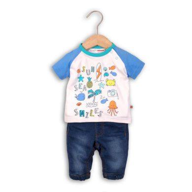 Minoti kalhoty riflové a tričko, Minoti, SURF 3, kluk