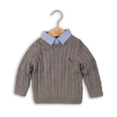 Minoti Svetr chlapecký se všitou košilí, Minoti, CAMDEN 4, šedá