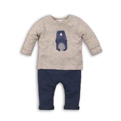 Minoti Kojenecký set bavlněný, tričko a kalhoty, Minoti, IGLOO 1, modrá